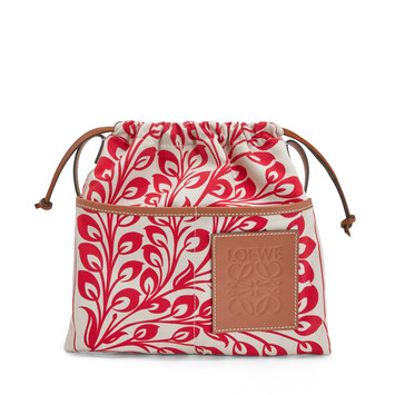 LOEWE Drawstring Pouch Tiles Small Red front