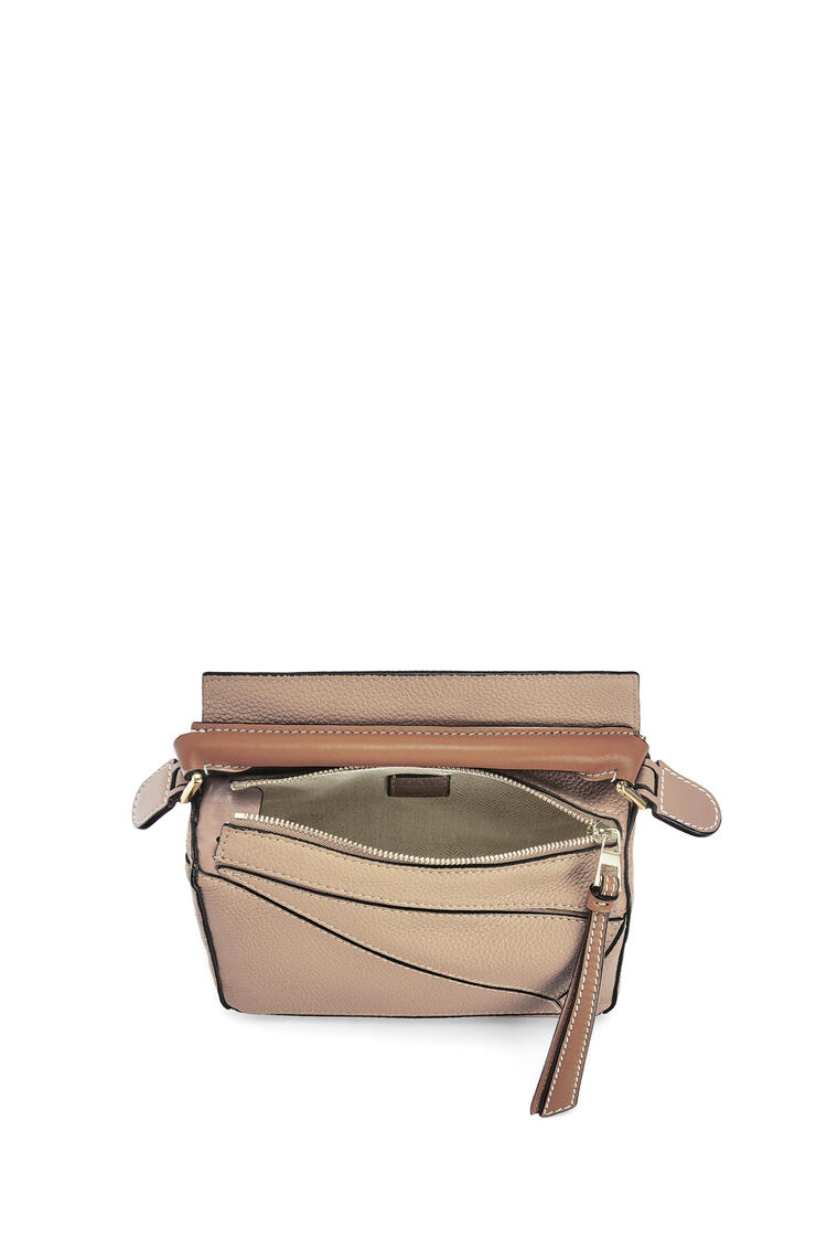LOEWE Mini Puzzle bag in soft grained calfskin Sand/Mink Color pdp_rd