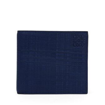LOEWE Linen Bifold Wallet 海军蓝 front