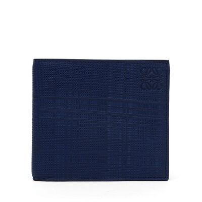 LOEWE Bifold Wallet Navy Blue front
