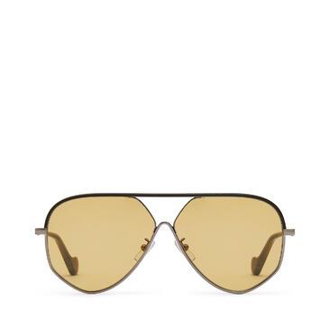 LOEWE Pilot leather sunglasses Black/Gold/Amber pdp_rd