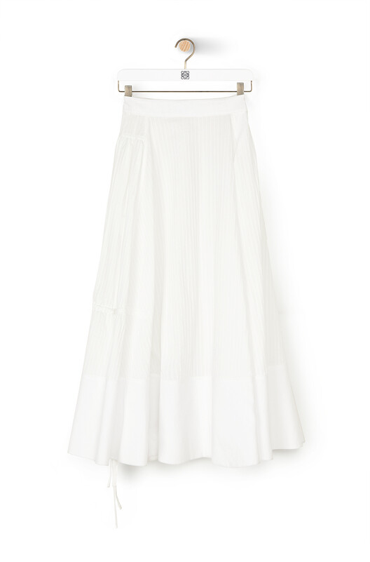 LOEWE Gathered Skirt White front