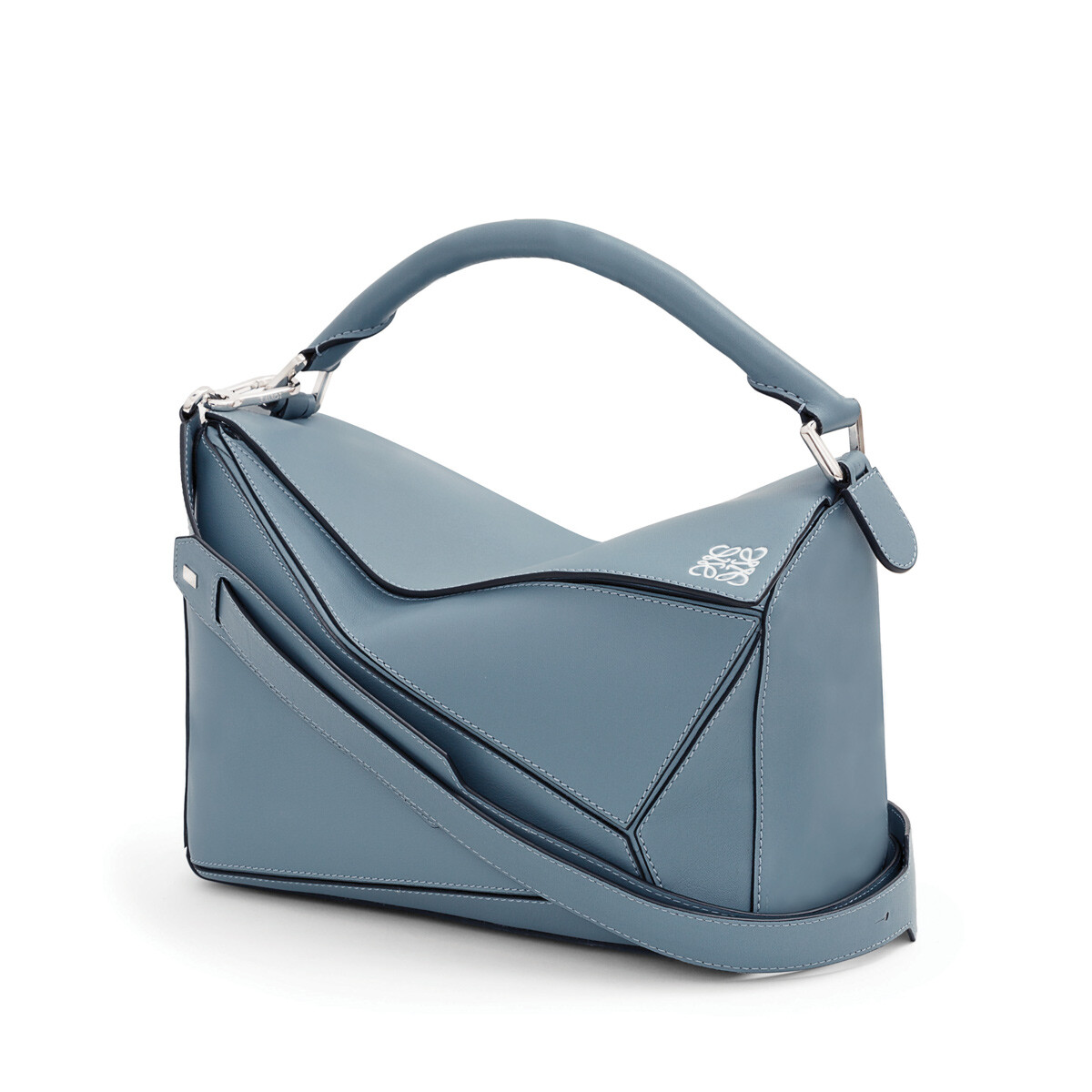 LOEWE Puzzle Bag Stone Blue front