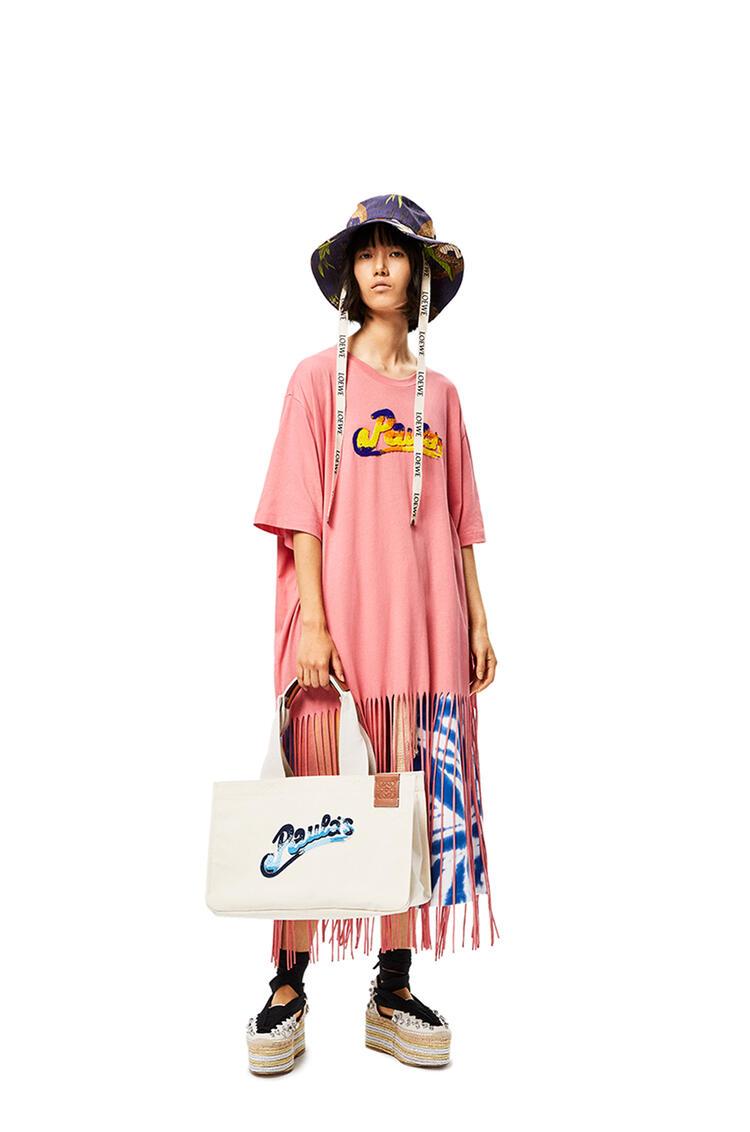 LOEWE Paula's Cabas bag in canvas Ecru pdp_rd