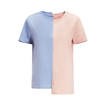 LOEWE Asymmetric Anagram T-Shirt Light Blue/Pink front