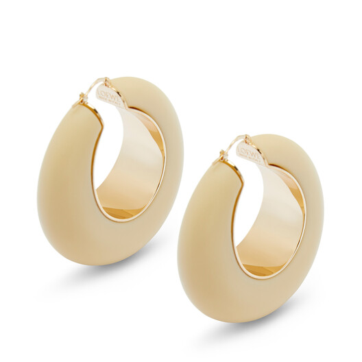 LOEWE Loop Earrings Gold front