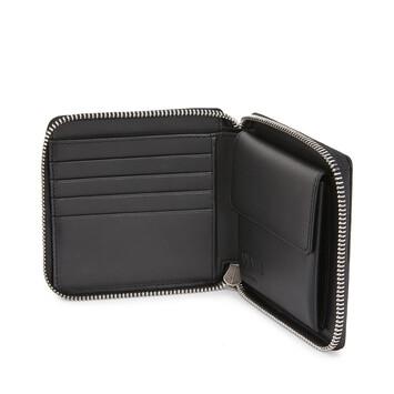 LOEWE Square Zip Wallet Bicolor Black/Red front