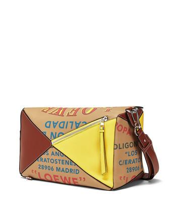 LOEWE Puzzle Lion Xl Bag Desert front