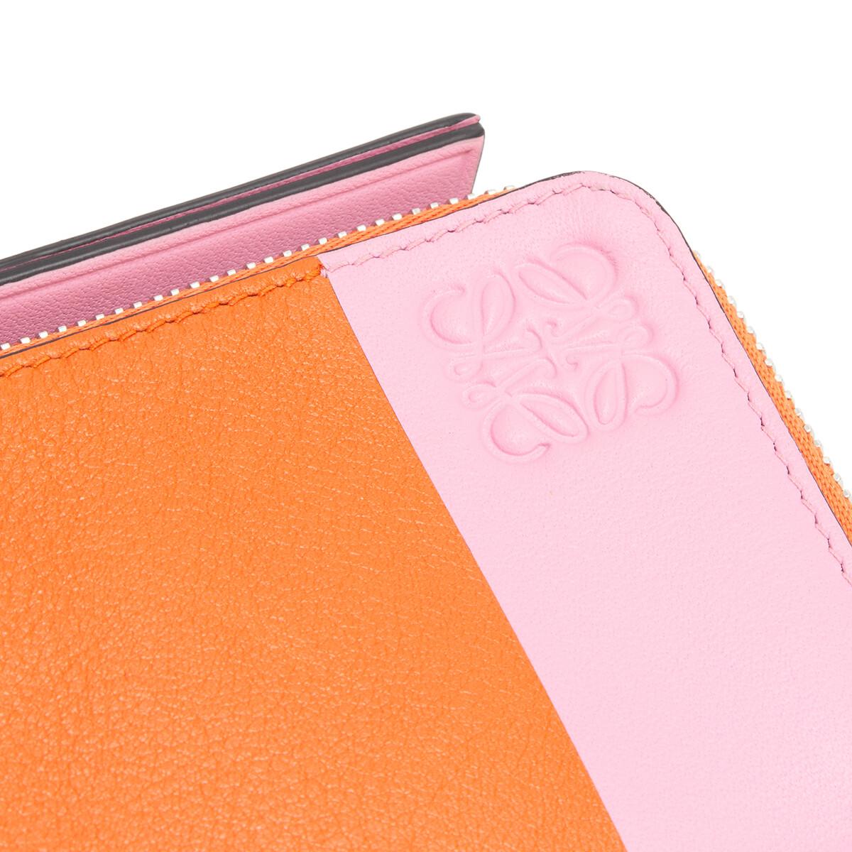 LOEWE Color Block Coin Card Holder 橘色/糖果色 front