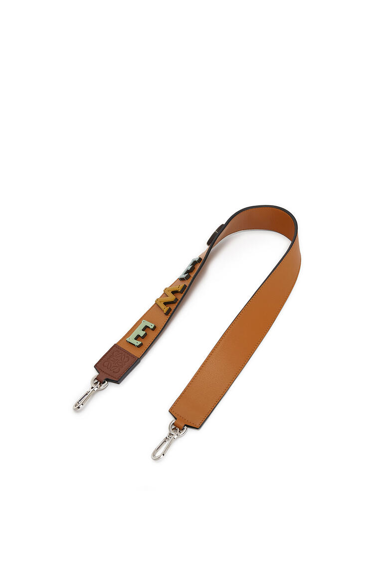 LOEWE Logo Strap In Classic Calfskin Tan/Honey pdp_rd