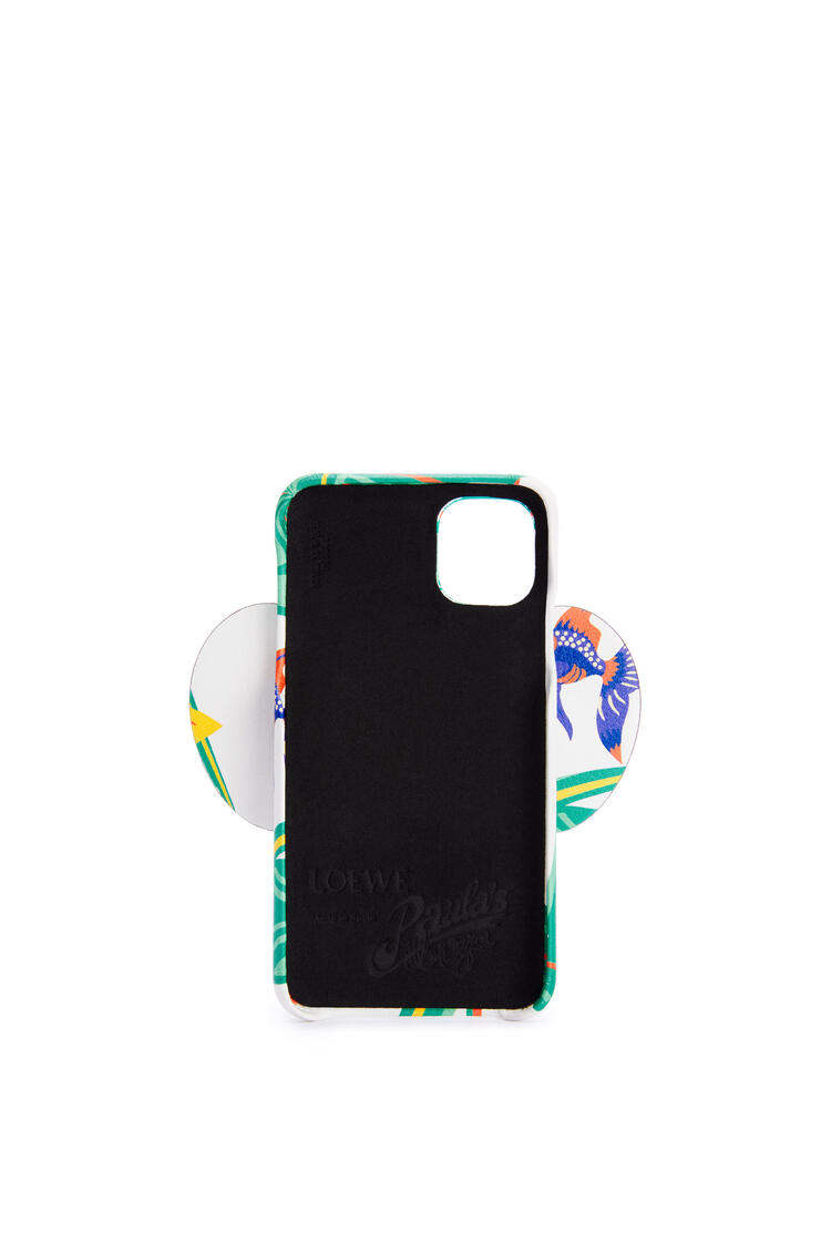 LOEWE Elephant cover for iPhone 11 in printed classic calfskin White pdp_rd