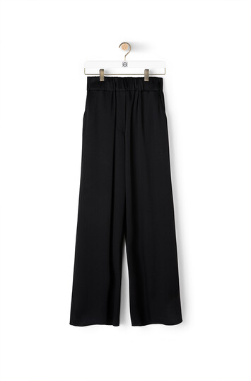 LOEWE Satin Trousers Negro front