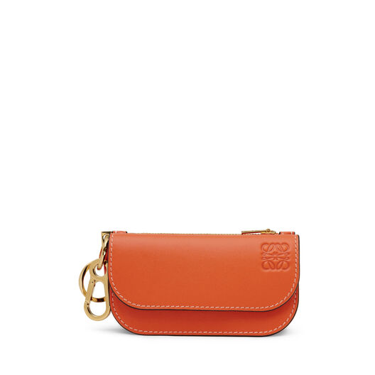 LOEWE Gate Mini Wallet Orange/Oxblood front