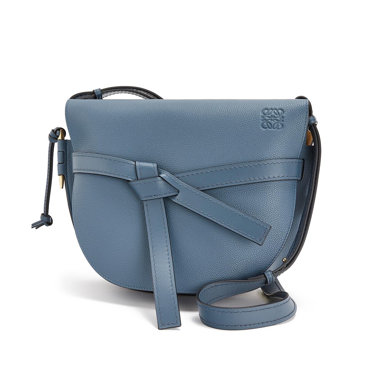 LOEWE Gate Bag Steel Blue front