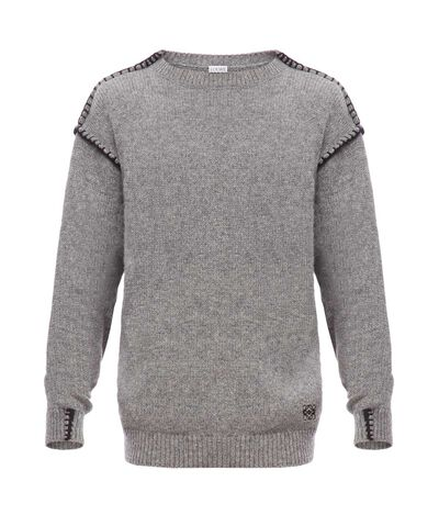 LOEWE Blanket Stitch Sweater Grey front