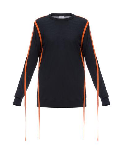 LOEWE Strap Sweater Black/Orange front