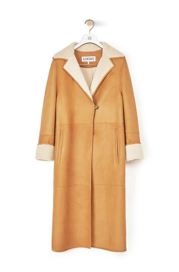 LOEWE Shearling Coat ゴールド/ホワイト front