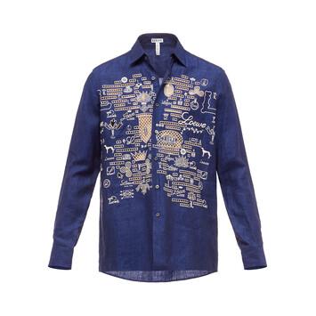 LOEWE Shirt Loewe Embroideries Blue front