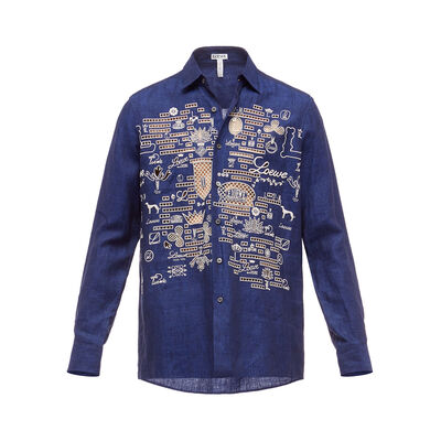 LOEWE Shirt Loewe Embroideries Blue front