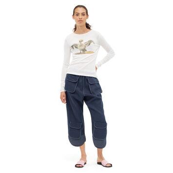 LOEWE Long Sleeve T-Shirt Bird Blanco front