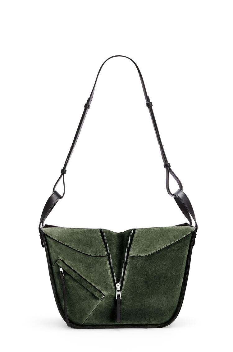 LOEWE Small Hammock bag in calfskin and suede Vintage Khaki/Black pdp_rd