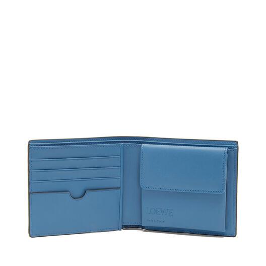 LOEWE Signature Bifold/Coin Wallet Cognac/Duke Blue all