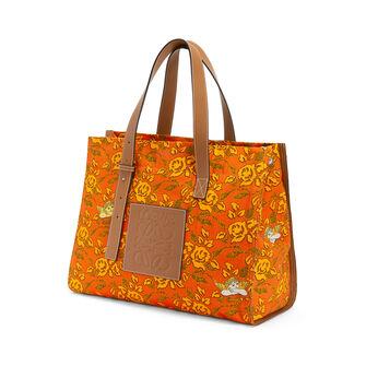 LOEWE Paula's Tote Prints 橙色 front