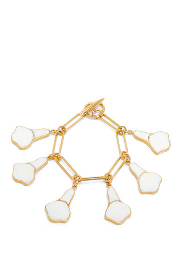 LOEWE Calla Bracelet In Semi Precious Stones White pdp_rd