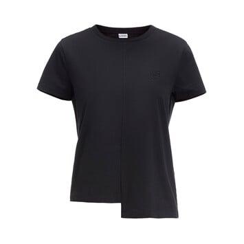 LOEWE Asym Anagram T-Shirt Negro front