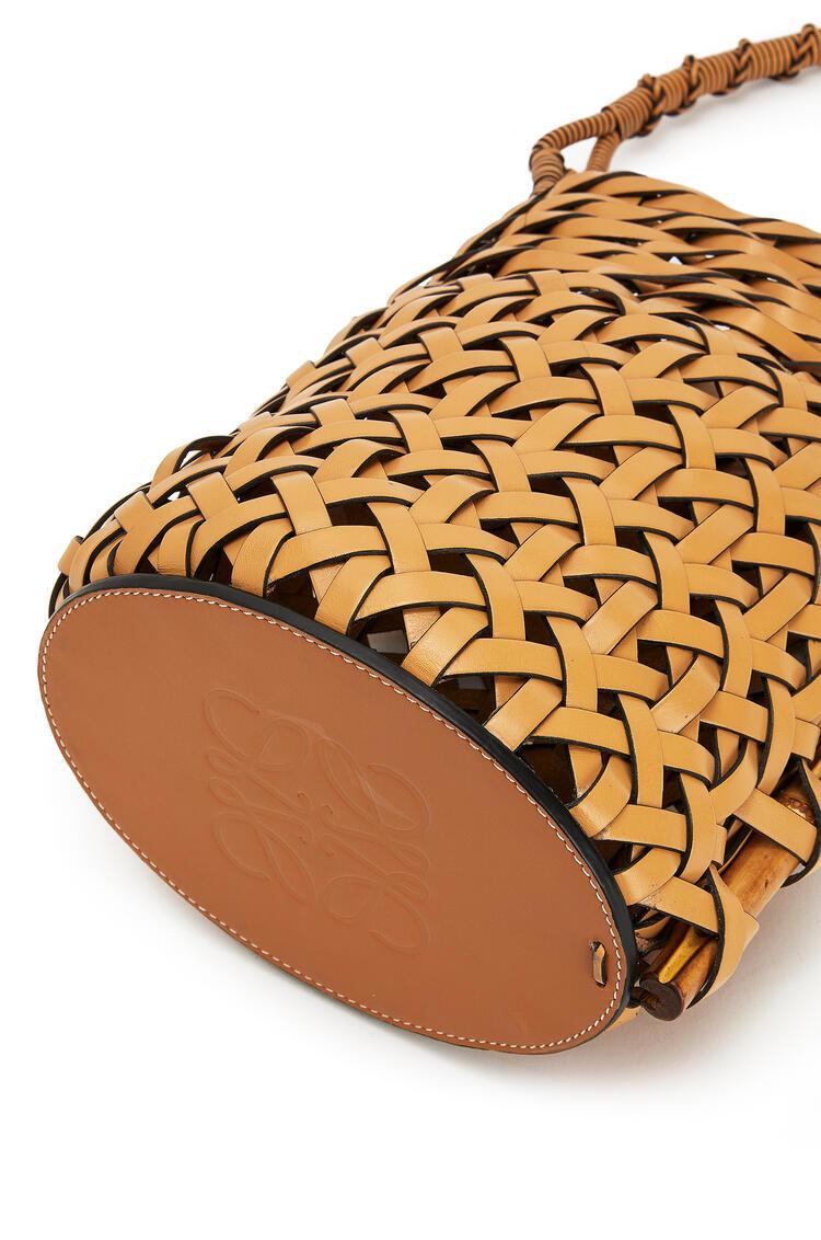 LOEWE Bucket pin bag in calfskin Light Caramel pdp_rd