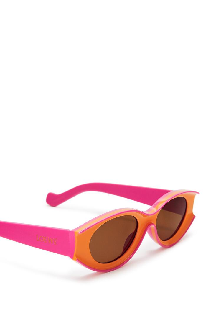 LOEWE Small Paula's Ibiza Sunglasses In Acetate Neon Orange/Neon Pink pdp_rd
