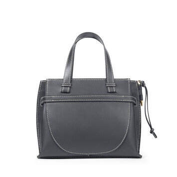 LOEWE Gate Top Handle Small Bag Midnight Blue front