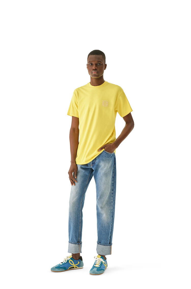 LOEWE Anagram embroidered t-shirt in cotton Bright Yellow pdp_rd