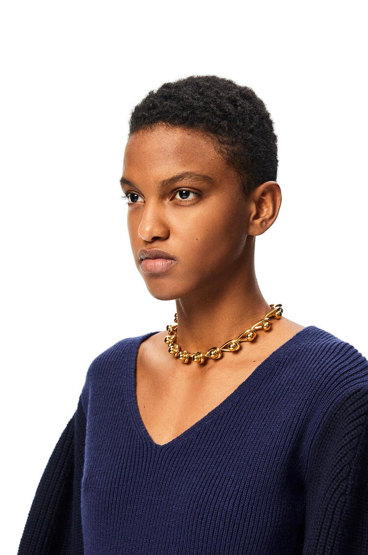 LOEWE Drop chain necklace in metal Gold pdp_rd