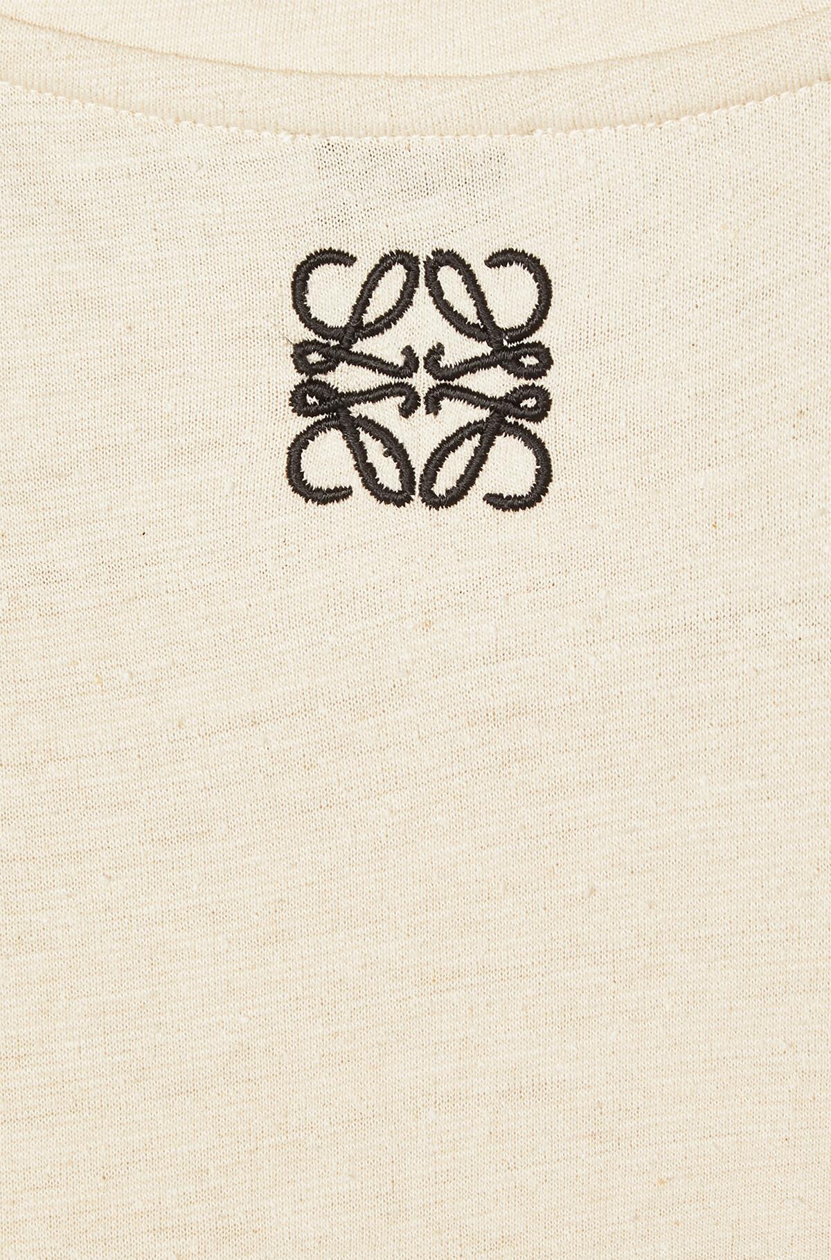 LOEWE Satin & Jersey T-Shirt Dress White/Off-White front