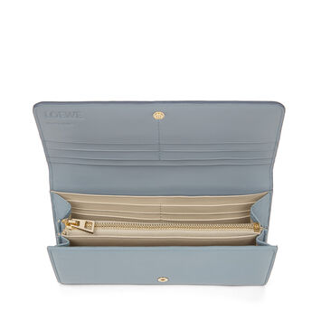 LOEWE Continental Wallet Stone Blue/Ivory front