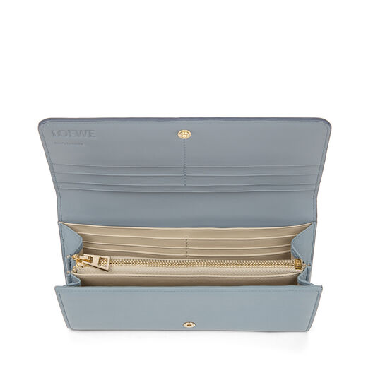 LOEWE Continental 翻盖钱夹 Stone Blue/Ivory front