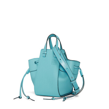 LOEWE Hammock Drawstring Mini Bag Lagoon Blue front
