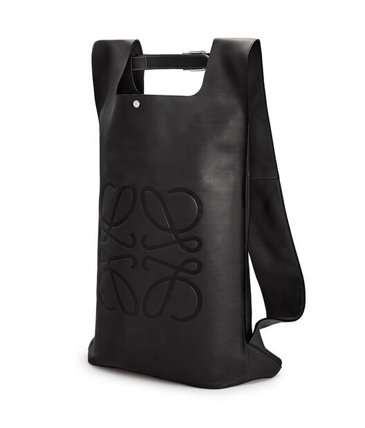 LOEWE Shopper Backpack Black front
