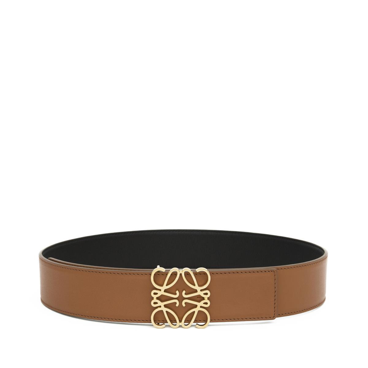 LOEWE Anagram Belt 4Cm Tan/Black/Gold front