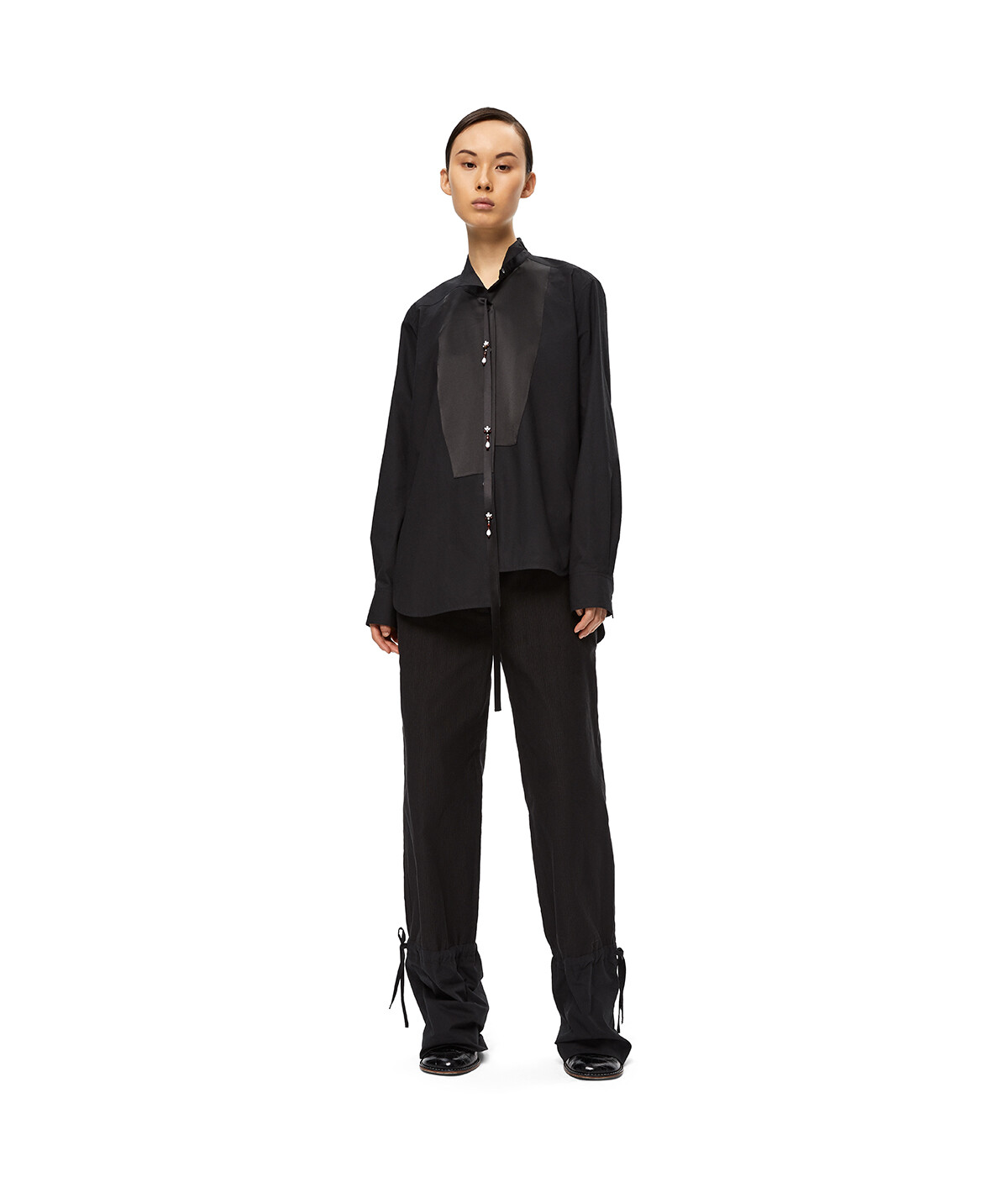 LOEWE Asym Ov Shirt Pearls Negro front