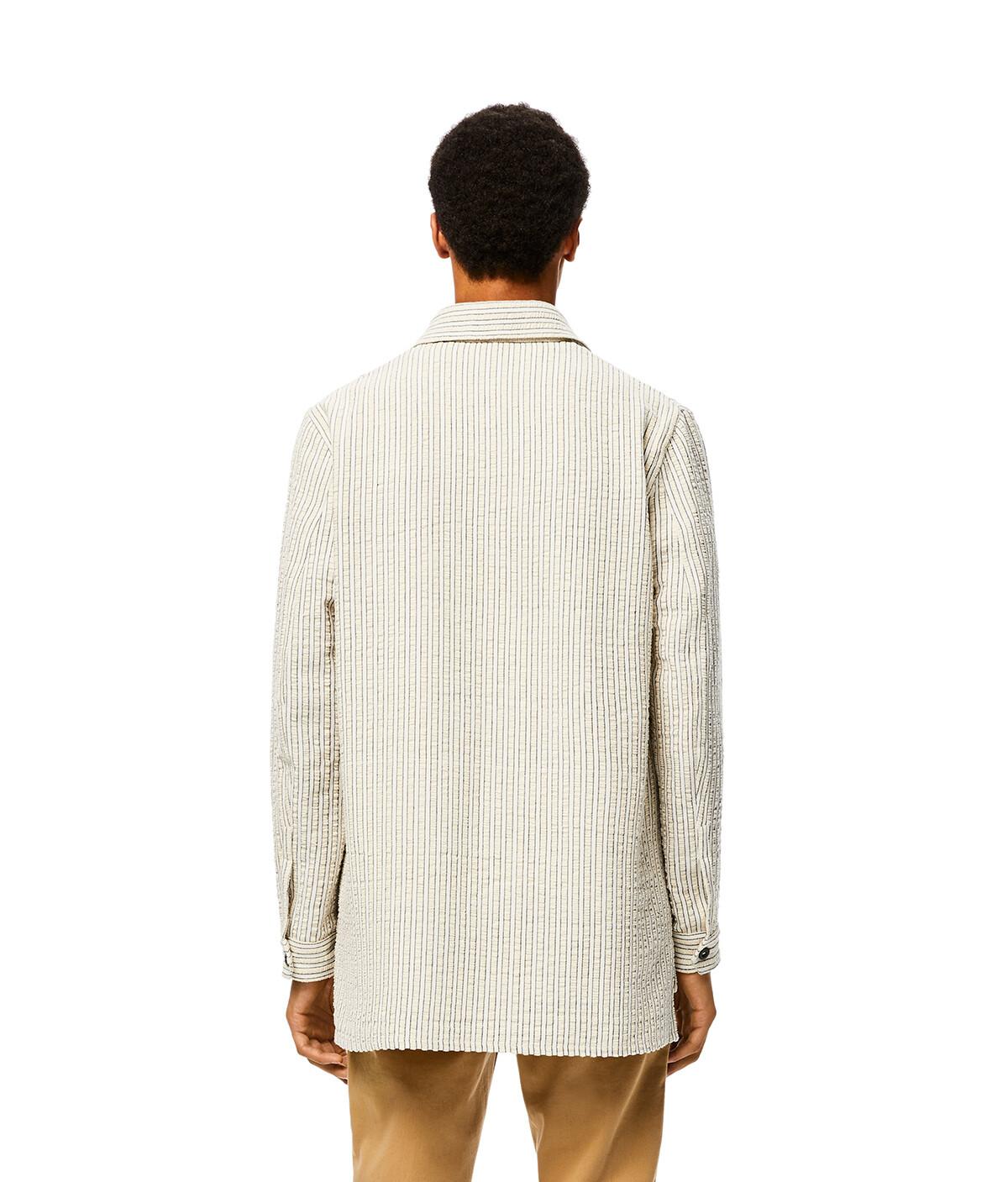 LOEWE Overshirt White/Brown front