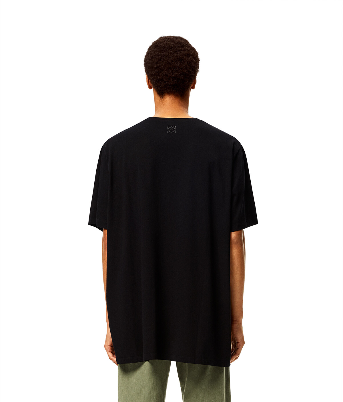 LOEWE Oversize T-Shirt In Mermaid Cotton Black front