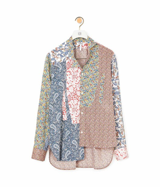 LOEWE Asymmetric Patchwork Shirt Multicolor front