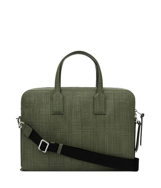 LOEWE Goya Thin Briefcase Khaki Green all