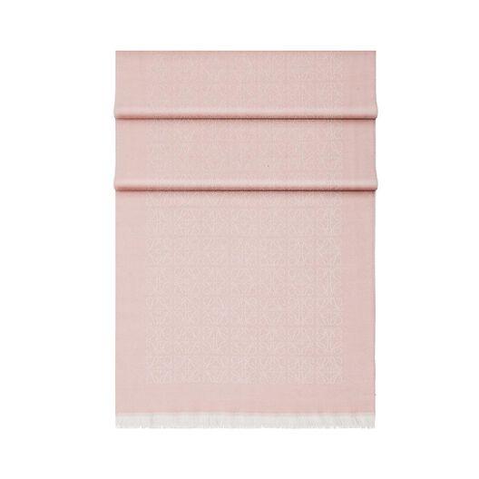 LOEWE 50X180 スカーフ モノグラム ライトピンク front
