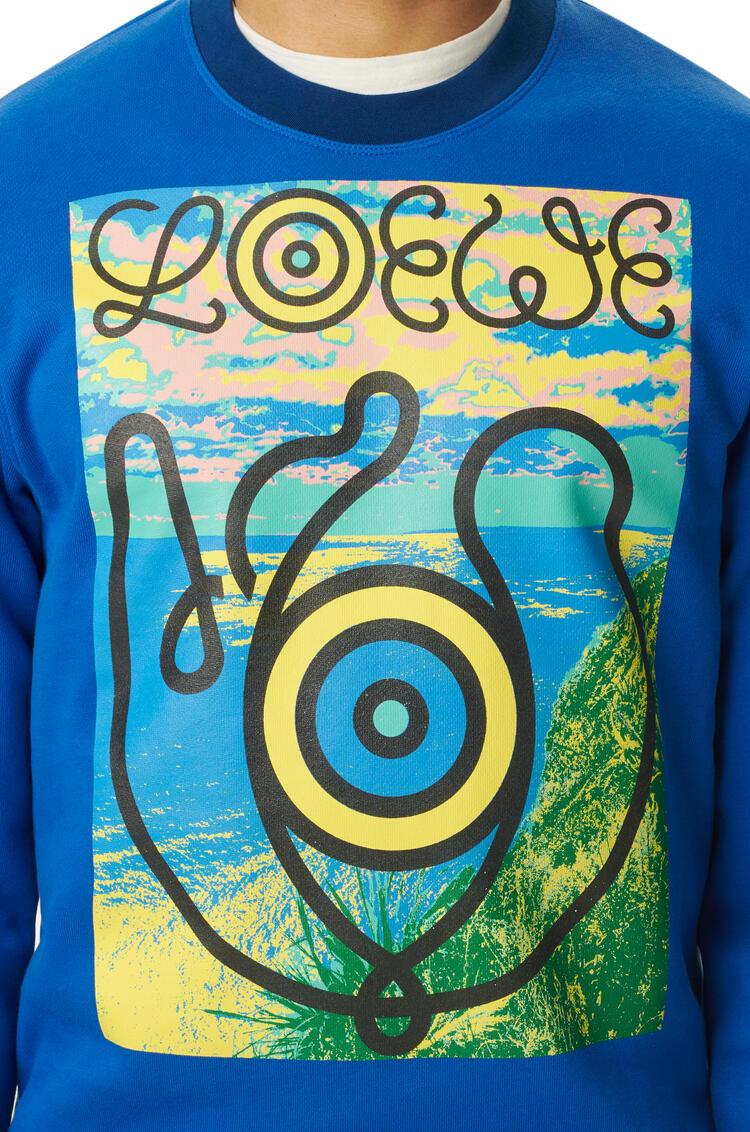 LOEWE Sweatshirt in cotton Electric Blue pdp_rd