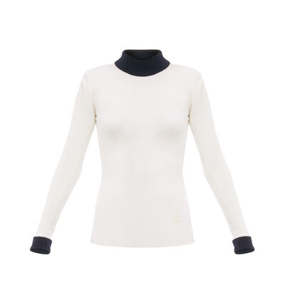 LOEWE Second  Skin Turtleneck Off-White front