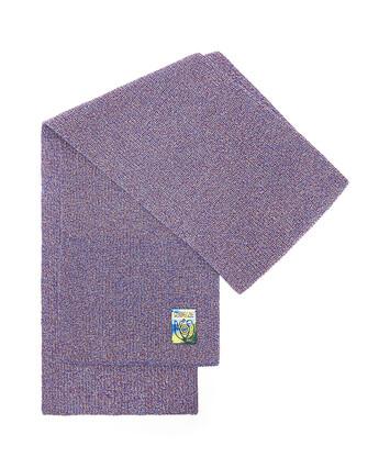 LOEWE Melange Knit Scarf Marino front