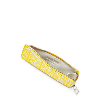 LOEWE Coin/Card Holder Yellow/White front